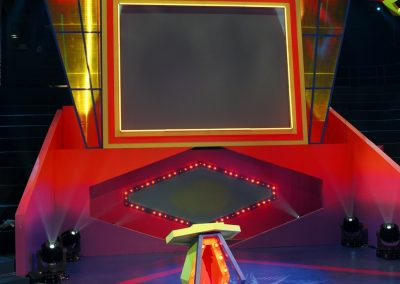 De trap televisiedecor